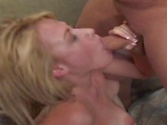 Young blonde gets a rough fuck on the couch