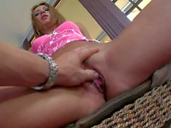 Skinny romanian girl Cory Devil gets mouth fucked