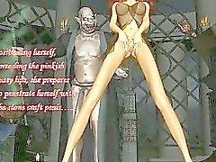 Satan Borrar en 3D Babe!