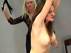 Bondage and fetish spanking