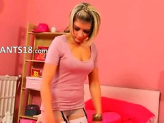 Super smart girl in high heels teasing