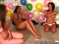Horny lesbo teens enjoy pussy licking