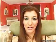 busty brunette christie