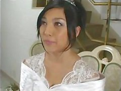 Amazingly-looking bride Saori Hara fucks her husband after wedding