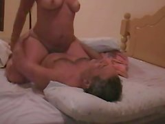 italian wife riding and cumshot