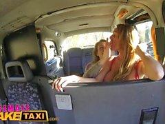 Fake Taxi Femminile Orgasmi lesbiche multipli per la milf busty gallese tatuato