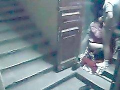 cámara de seguridad Escalera catpures puta esposa