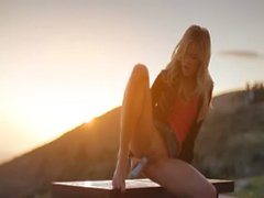 Sunset in Malibu in art fingering movie