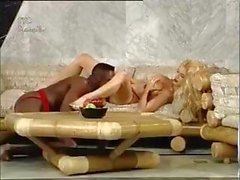 Busty blonde trades oral and gets banged by Sean Michaels' cock