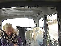 Blonde bbw bangs in taxi in woods