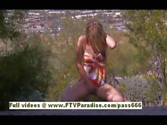 Samantha pleasant blonde babe public masturbating outdoors