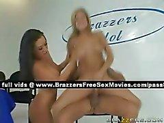 Two sexy sluts get fucked hard