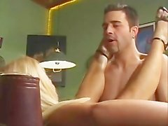 Sharon Da Val - Bar Maid fucked by two guys