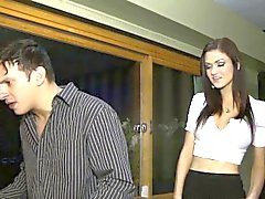 Stepmilf and teen in trio ride dick and face