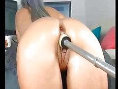 Hot Babe sexy culo macchina dildo anale