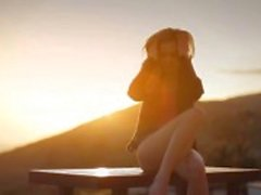 Solnedgång i Malibu i konst retas film