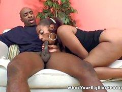 BigAss Ebony Sucking On BBC MonsterCock
