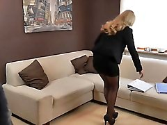 naughty-hotties - office outfit intern quickie - load on