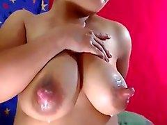 Webcam Milking Huge Nipples