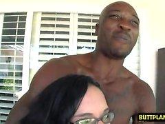 Latin pornstar interracial with cumshot
