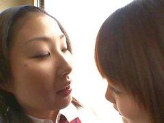Scoolgirl Kissing