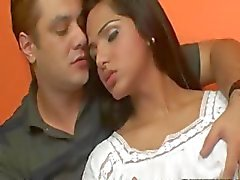 Sexy rondborstige shemale Drikinha Lima analed