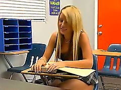 angelic sexy schoolgirl fucks in class