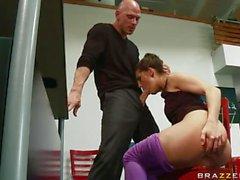 threesome sex at the ballet studio