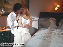 Bride Lexi Belle is fucked by her new husband
