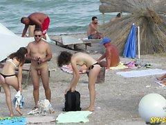 Amateur Nudist Beach Voyeur