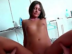 Nasty brunette and her couple gets horny part3