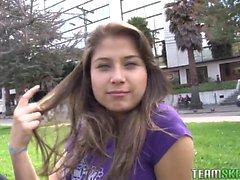 Tight pussy latina babe Yulissa Camacho gets her daily dose