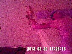 Seks in een Thay lichaamsmassage met verborgen camera .