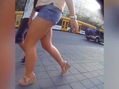 lovely ass in short jeans