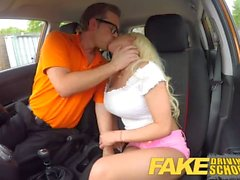 Fake Driving School Sexy busty blonde babe creampied on first lesson