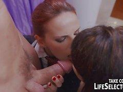 Naughty schoolgirls seduce their teachers