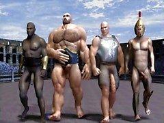 gay olympic game funny 3d cartoon anime comic joke