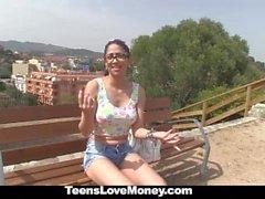 TeensLoveMoney - Hot Latina Gets Fucked Outdoors