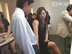 Japanese orgy with MILF taking part of all the sucking and fucking