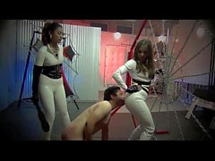 FIRST TIME SLAVE GETS DOUBLE THE BEATING Starring Mistress Sherry Blossom feat Mistress feat. Mistre