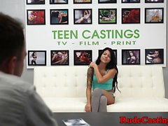 Hardfucking petite teen enjoying bdsm casting