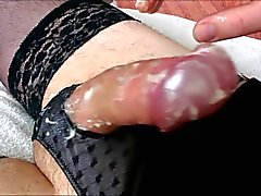 Lingerie, Lube, and Massive Cumshot