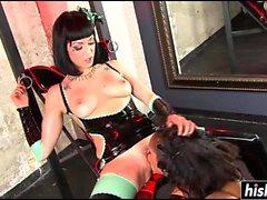 Hot lesbian sluts enjoy hardcore BDSM