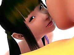 Поддержка с девушкой - Самый горячий 3D из аниме пола архива