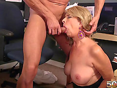 Golden-Haired mother i'd like to fuck screwed in the office