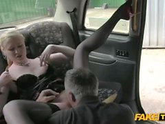 Horny Blonde Takes Taxi Drivers Dick