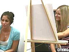 Tytöt Piirustus Hard Guys Art luokan