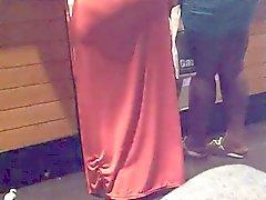 Секси попа в платье