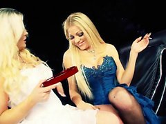 Cindy gives her girlfriend with a foot fetish what she...