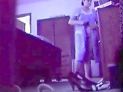 Enjoy my mum dressing and undressing. Hidden Cam